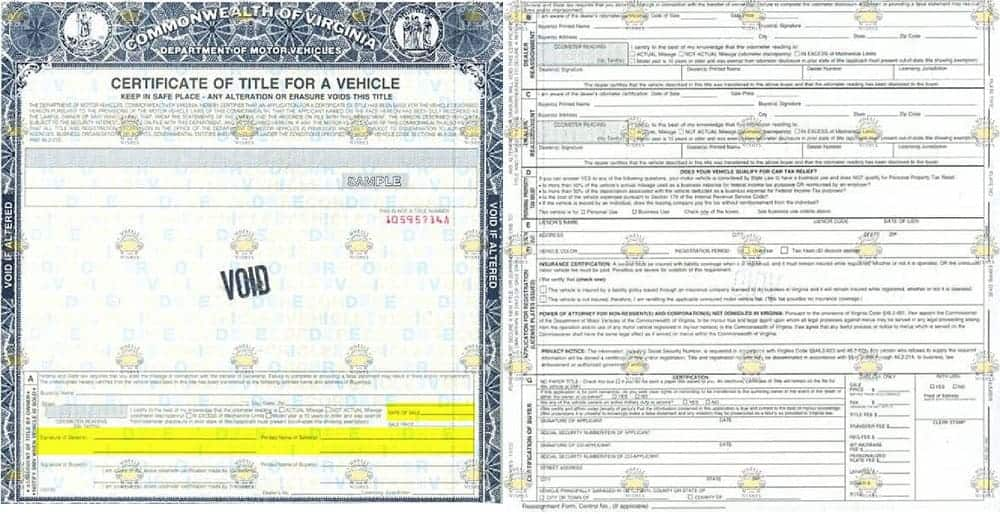 What to do with your Virginia vehicle title when donating a car?