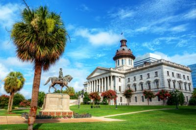 South Carolina state capitol building in Columbia