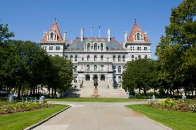 New York state capitol building in Albany, New York